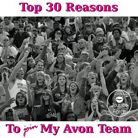30 reasons to join my Avon team