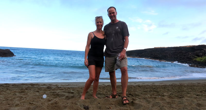 Silke Jager and husband Nick in Hawaii