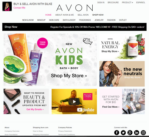 Click to visit Silke Jager's Avon shopping websiite.