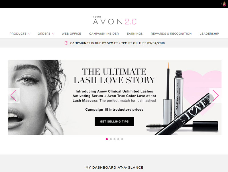 Learn about Avon's new business website for Reps.
