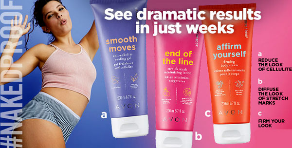 Naked Proof body care products by Avon.