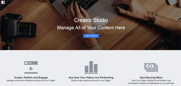 Log in to Manage your social content with Creator Studio